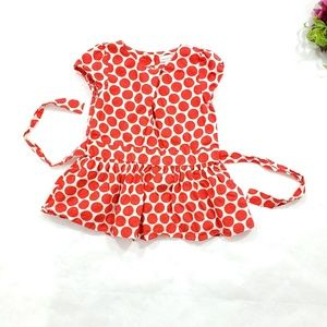 Maggie & Zoe Red Polka Dot Button Down Back Top 4T
